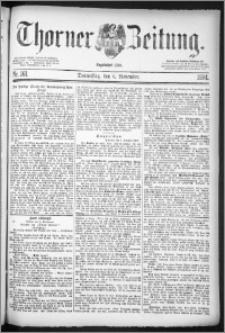Thorner Zeitung 1884, Nro. 261