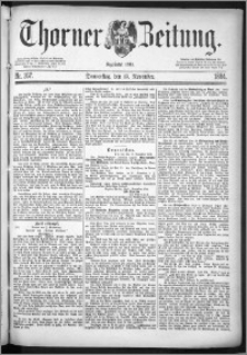 Thorner Zeitung 1884, Nro. 267