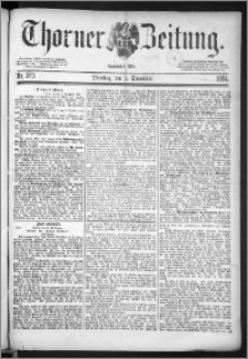 Thorner Zeitung 1884, Nro. 283