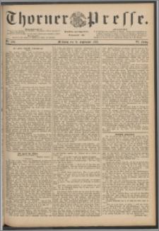 Thorner Presse 1888, Jg. VI, Nro. 220 + Beilagenwerbung