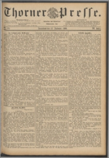 Thorner Presse 1888, Jg. VI, Nro. 223 + Extrablatt