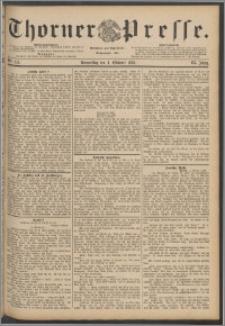 Thorner Presse 1888, Jg. VI, Nro. 233 + Extrablat