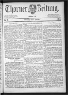 Thorner Zeitung 1885, Nro. 29