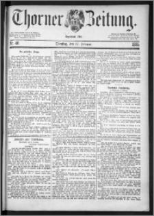 Thorner Zeitung 1885, Nro. 40