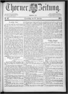 Thorner Zeitung 1885, Nro. 42