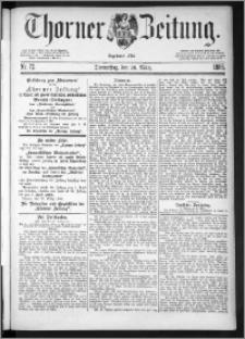 Thorner Zeitung 1885, Nro. 72