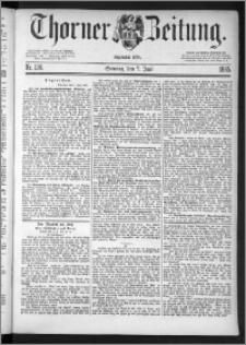 Thorner Zeitung 1885, Nro. 130 + Beilage