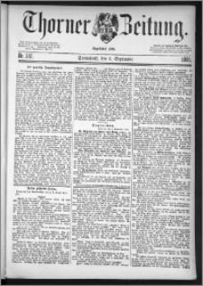 Thorner Zeitung 1885, Nro. 207