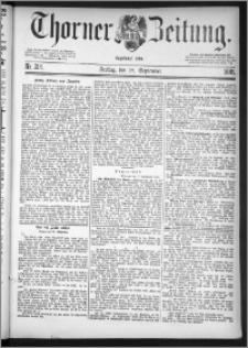 Thorner Zeitung 1885, Nro. 218