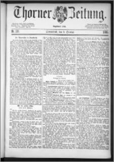 Thorner Zeitung 1885, Nro. 231 + Beilagenwerbung
