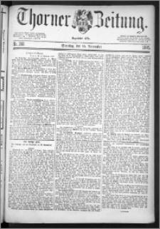 Thorner Zeitung 1885, Nro. 268 + Beilage, Extra-Beilage