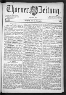 Thorner Zeitung 1885, Nro. 276