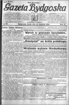 Gazeta Bydgoska 1925.04.29 R.4 nr 98