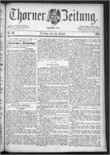 Thorner Zeitung 1886, Nro. 196