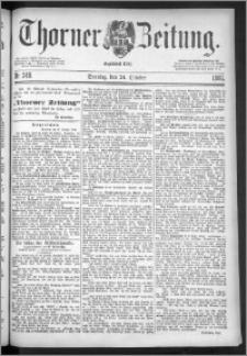 Thorner Zeitung 1886, Nro. 249
