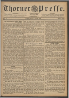 Thorner Presse 1890, Jg. VIII, Nro. 11 + Extrablatt