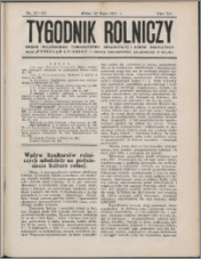 Tygodnik Rolniczy 1931, R. 15 nr 27/28