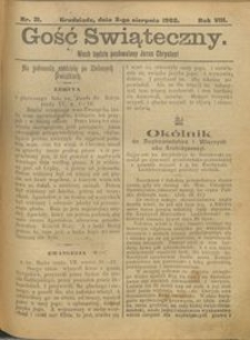 Gość Świąteczny 1902.08.03 R. VIII nr 31