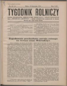 Tygodnik Rolniczy 1933, R. 17 nr 43/44
