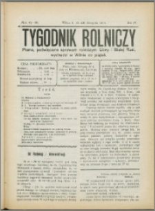 Tygodnik Rolniczy 1914, R. 4 nr 32/33