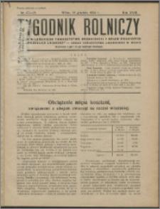 Tygodnik Rolniczy 1934, R. 18 nr 47/48