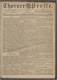 Thorner Presse 1892, Jg. X, Nro. 1 + Beilage