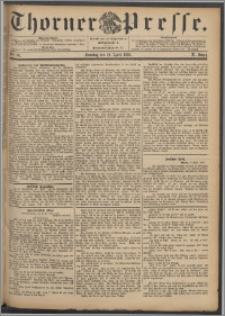Thorner Presse 1892, Jg. X, Nro. 86 + Beilage
