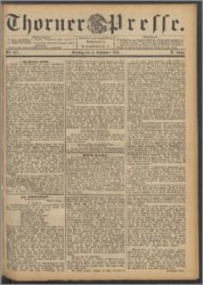 Thorner Presse 1892, Jg. X, Nro. 207 + Beilage