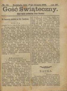 Gość Świąteczny 1906.08.26 R. XII nr 34