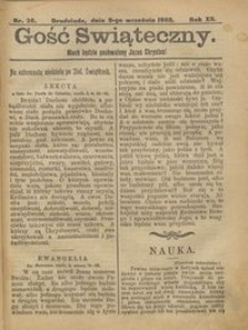 Gość Świąteczny 1906.09.09 R. XII nr 36