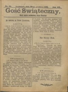 Gość Świąteczny 1906.12.30 R. XIII nr 52
