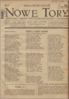 Nowe Tory : Niezawisły Organ Polityczno Społeczny i Literacki 1921.01.29 R.2 nr 5