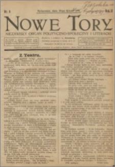 Nowe Tory : Niezawisły Organ Polityczno Społeczny i Literacki 1921.02.19 R.2 nr 8