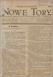 Nowe Tory : Niezawisły Organ Polityczno Społeczny i Literacki 1921.02.26 R.2 nr 9
