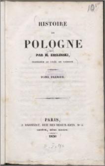 Histoire de Pologne, T. 1