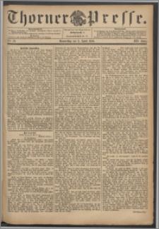 Thorner Presse 1894, Jg. XII, Nro. 78 + Beilage
