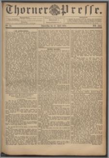 Thorner Presse 1894, Jg. XII, Nro. 84 + Beilage