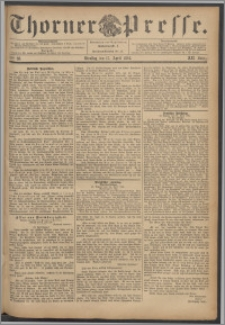 Thorner Presse 1894, Jg. XII, Nro. 88 + Beilage