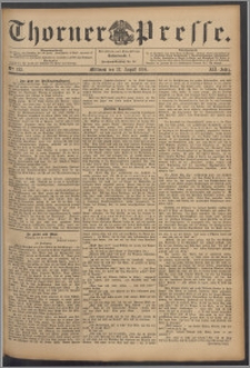 Thorner Presse 1894, Jg. XII, Nro. 195 + Beilage