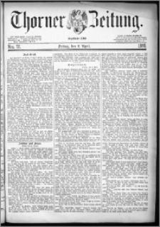 Thorner Zeitung 1880, Nro. 77