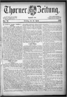 Thorner Zeitung 1880, Nro. 92 + Beilagenwerbung