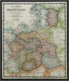 Mapa pocztowa gubernii Królestwa Polskiego wraz ze skorowidzem i wykazaniem wszelkich dróg oraz odległości od nich