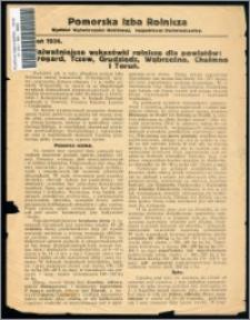 Najważniejsze wskazówki rolnicze dla powiatów Starogard, Tczew, Grudziądz, Wąbrzeźno, Chełmno i Toruń : jesień 1936 r.