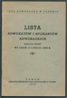 Lista adwokatów i aplikantów adwokackich