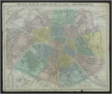 Nouveau Plan de Paris Divise en Vingt Arrondissements