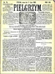 Pielgrzym, pismo religijne dla ludu 1881 nr 75