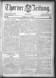 Thorner Zeitung 1881, Nro. 56 + Beilagenwerbung