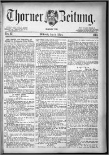 Thorner Zeitung 1881, Nro. 57