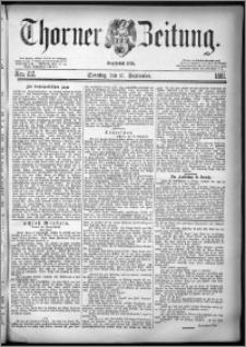 Thorner Zeitung 1881, Nro. 212