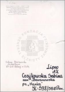 Czajkowska Sabina